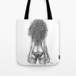 Curly girl Tote Bag