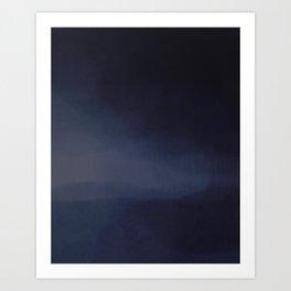Blue Hour Storm Art Print