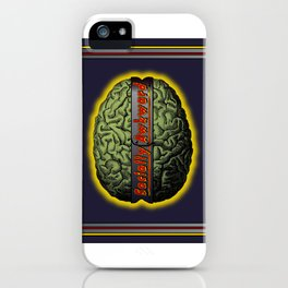 The Socially Awkward Brain iPhone Case