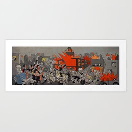 2011 London Riots Art Print