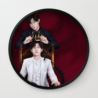 kpop Wall Clocks featuring King Sunggyu by Nikittysan