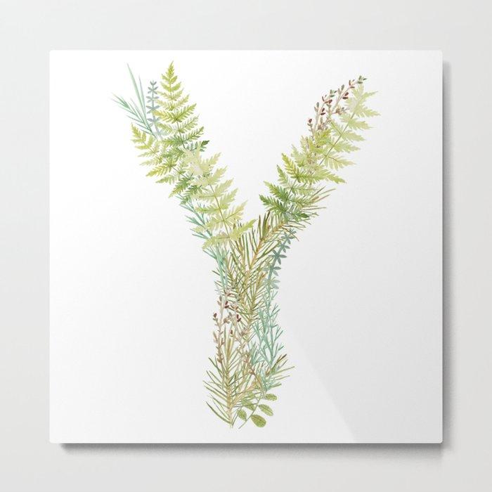 Initial Y Metal Print