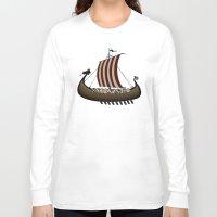 vikings Long Sleeve T-shirts featuring Vikings by mangulica
