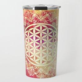 Flower Of Life (Sunset Skies) Travel Mug