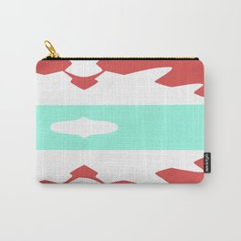 Red and Pastel Blue Axtec Carry-All Pouch