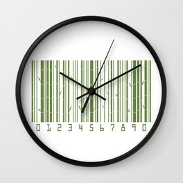 Bamboo Barcode Wall Clock
