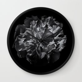 Backyard Flowers In Black And White 25 Wall Clock