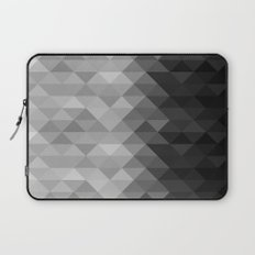 Grayscale triangle geometric squares Laptop Sleeve