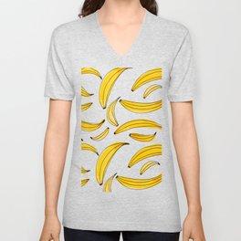 Watercolor bananas - yellow Unisex V-Neck