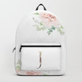 J - Floral Monogram Collection Backpack