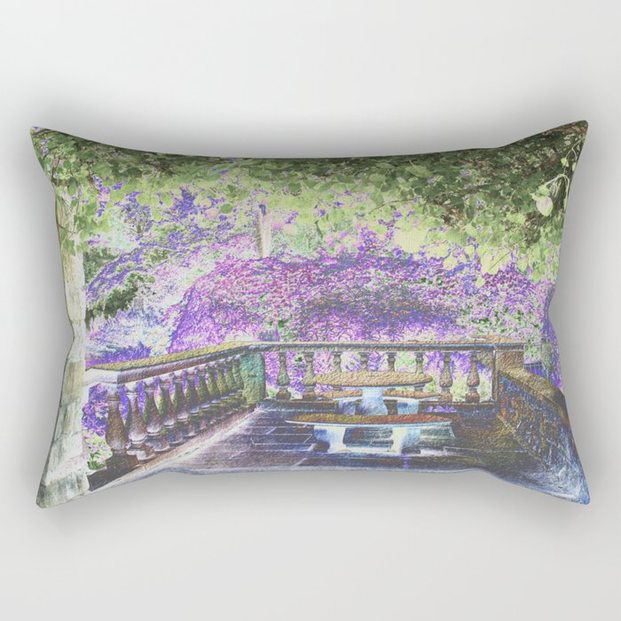 Lavender English Garden Rectangular Pillow