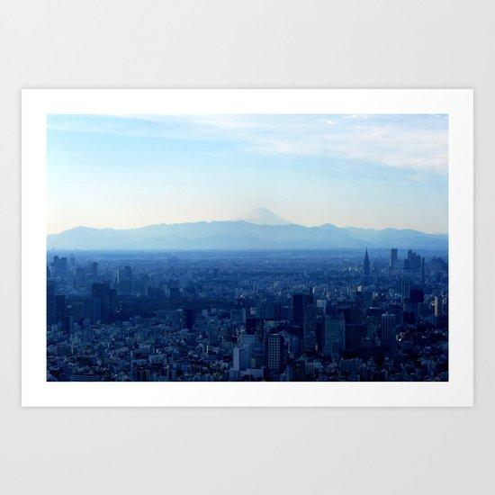 Fuji in the Distance Art Print