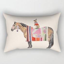 Horse with hare  Rectangular Pillow
