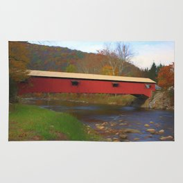 Forksville Covered Bridge Rug
