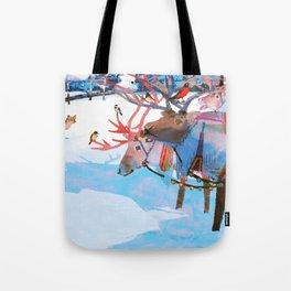 Reindeers and friends Tote Bag