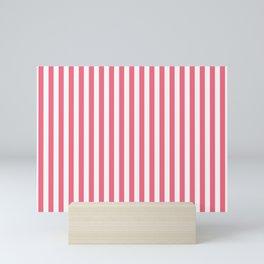 pink strip Mini Art Print