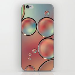 Droplets of Pink & Blue iPhone Skin