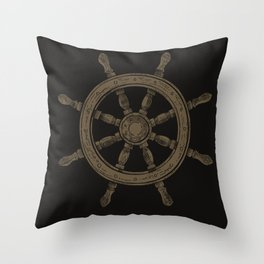 Steering wheel - black Throw Pillow