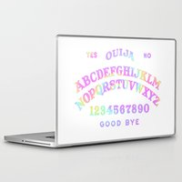 ouija Laptop & iPad Skins featuring Rainbow Ouija by Rotton Cotton Candy