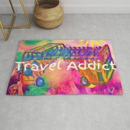 travel addict Rug