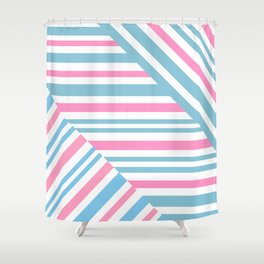 Geometric pattern. Striped triangles 2 Shower Curtain