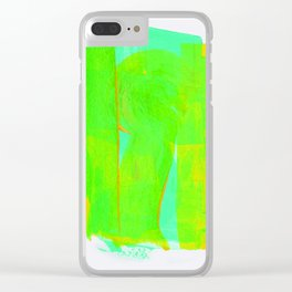 Color Variations in Green 01 Clear iPhone Case