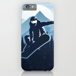 Royal Skiing - Attitude - Ski Snowboard Fly Skyline iPhone Case
