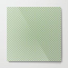 Green Tea and White Polka Dots Metal Print