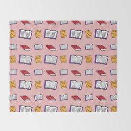 Book Lover Throw Blanket