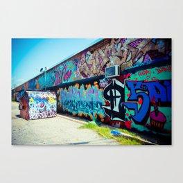 Graffiti Art Alley Canvas Print