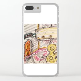 Vintage Lamp Clear iPhone Case