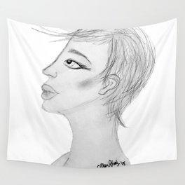 Sketchy Profiling Wall Tapestry