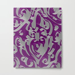3D Ornamental Background Metal Print