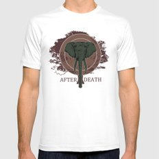 The Elephant MEDIUM White Mens Fitted Tee