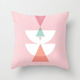 Geometric corail Throw Pillow
