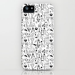 Stick and Poke Tattoo iPhone Case