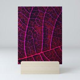 LEAF STRUCTURE RED VIOLET Mini Art Print