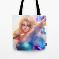 elsa Tote Bags featuring Elsa by ChrySsV