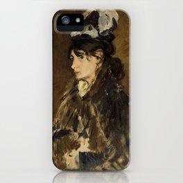 Berthe Morisot - By Edouard Manet iPhone Case