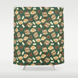 S'mores Shower Curtain