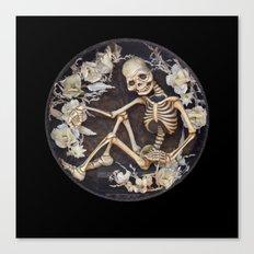 In Memoriam Skeleton  Canvas Print