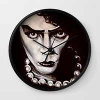 "rocky horror picture show Wall Clocks featuring Rocky Horror Picture Show ""Sweet Transvestite"" by Kristin Frenzel"