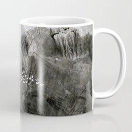A cloud of white birds Coffee Mug