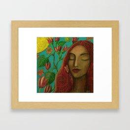 Sun and Flowers Framed Art Print