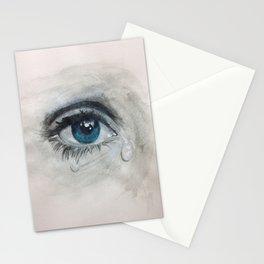 Crying eye Stationery Cards