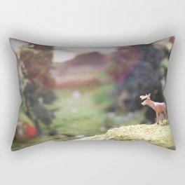 Temporary Happiness part 1 deer Rectangular Pillow