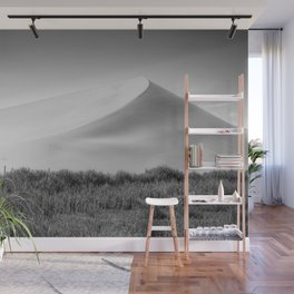 Field Mountain (Black and White) Wall Mural
