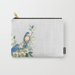 Floral Birds Carry-All Pouch