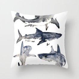 School or Shiver Throw Pillow