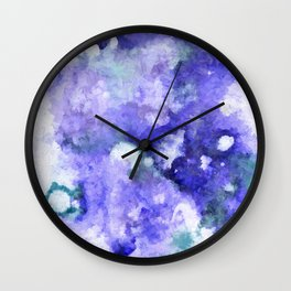 Peaceful Blues Wall Clock